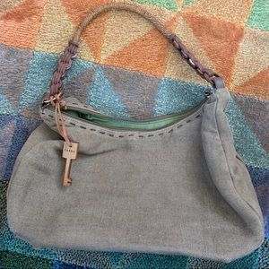 Cute olive hobo by Fossil in fair condition